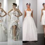 Достоинства и недостатки короткого свадебного платья