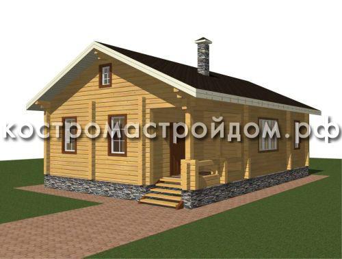 Одноэтажный дом из бруса – отличная экономия и долговечность